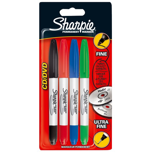 Sharpie CD/DVD twin tip Sharpie - 1 -0,5 mm - assortiti - S0810700 (conf.4) - Sharpie