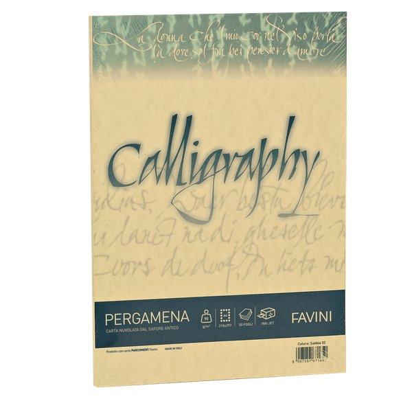 Calligraphy Pergamena Liscio Favini - oro - fogli - A4 - 190 g - A69W084 (conf.50) - Favini