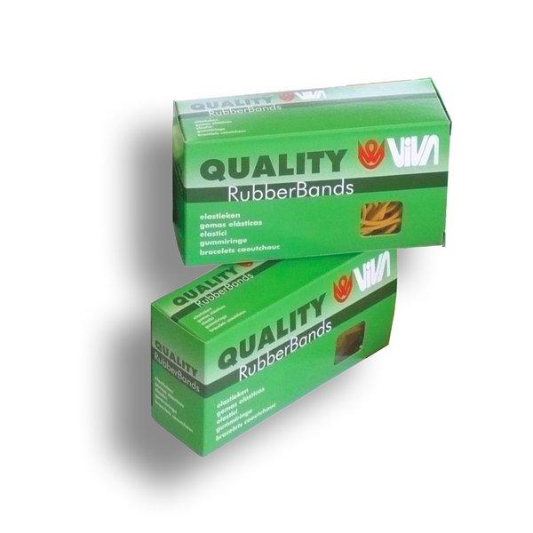 Astuccio elastici gialli 100 g viva - 100 mm - e100-100 (conf.100)