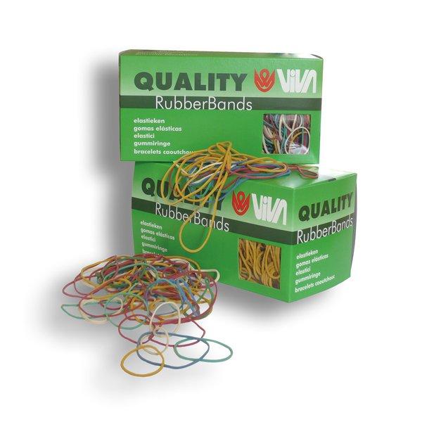 Astuccio elastici in para naturale 100 g viva - 60 mm - en060-100 (conf.100)