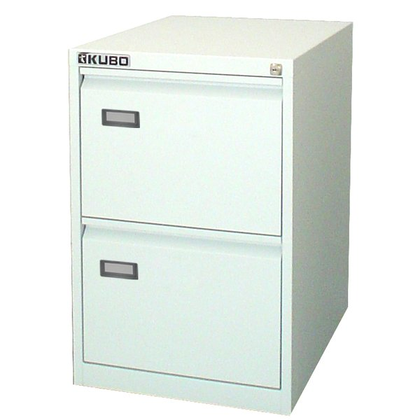 Classificatore per cartelle sospese Kubo bianco a 2 cassetti - 4302 - Kubo