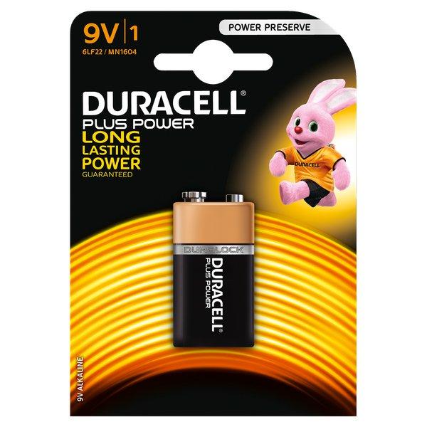 Pile Duracell Plus - transistor - 9 V - MN1604B1 - Duracell