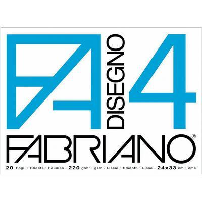Blocco Disegno Fabriano 4 - 33 x 48 - Liscio Riquadrato - FABRIANO
