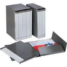Gruppi di 6 cartelle Delso Line Esselte - Dorso 3 - 25x32 cm - bianco/grigio - 390956040 - Esselte