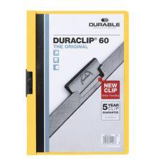 Cartellina Duraclip Durable - 3mm - Capacità 30 fogli - giallo - 2200-04 - Durable