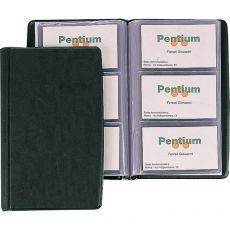 Portabiglietti da visita in PVC Favorit - 3 tasche 60 scomparti - 11x19 cm nero - 100460541 - Favorit