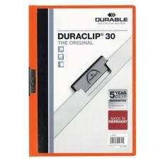 Cartelline Duraclip® Durable - 3 mm - Capacità 30 fogli - arancione - 2200-09 - Durable