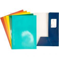 Cartellina 2 lembi per presentazioni 4company - blu - 3760 01 (conf.10) - 4company