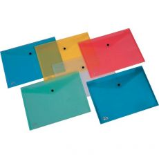 Buste con bottone Pull King Mec - A4 - PPL - azzurro - 00111316 (conf.5) - King Mec