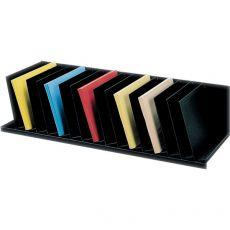 Sistema multiblocco Paperflow - Reggilibri con separatori fissi inclinati - nero - 4939.01 - Paperflow