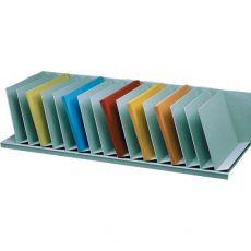 Sistema multiblocco Paperflow - Reggilibri con separatori fissi inclinati - grigio - 4939.02 - Paperflow