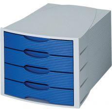 Cassettiera Monitor HAN - grigio/blu - 4 cassetti - 1001-K-14 - HAN