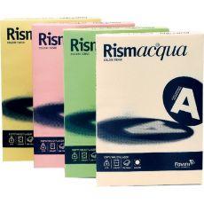 Carta e cartoncini tinte tenui Rismacqua Favini - A3 - 200 g/mq - 5 assortiti - A67x123 (risma125) - Favini