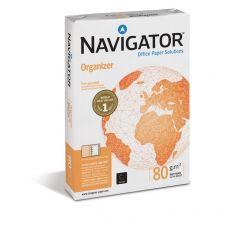 Carta Organizer Navigator - 4 fori - A4 - 80 g/mq - 110 µm - 1581UN (conf.5) - Navigator