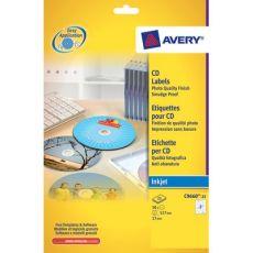 Copertine per custodie DVD Avery per stampanti Inkjet - bianco - 1 et/ff - J8437-25 (conf.25) - Avery