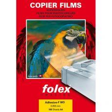 Film adesivo Folex - trasparente - A4 - bianco lucido - 26240.050.44000 (conf.100) - Folex