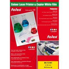 Film per stampanti laser e copiatrici Folex - bianco lucido - 125 my - 29729.125.44100 (conf.50) - Folex