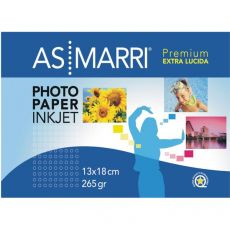 Carta fotografica lucida Premium AS Marri - Extra lucida - 13x18 cm - 265 g/mq - 9175 (conf.20) - AS Marri