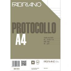 Fogli protocollo Fabriano - per stampanti - rigato uso bollo - 80 g/mq - 02311914 (conf.500) - Fabriano