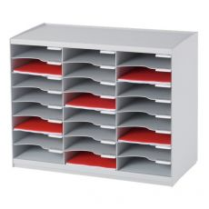 Sistema di smistamento corrispondenza Paperflow - 24 scomparti - grigio - 67,4x30,8x54,8 cm - 802.02 - Paperflow