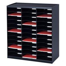Sistema di smistamento corrispondenza Paperflow - 36 scomparti - nero - 67,4x30,8x79,1 cm - 803.01 - Paperflow