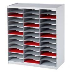 Sistema di smistamento corrispondenza Paperflow - 36 scomparti - grigio - 67,4x30,8x79,1 cm - 803.02 - Paperflow
