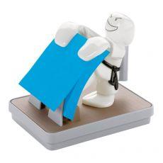 Dispenser Karate Emotional Post-it® Z-Notes - 76x76 mm - grigio e bianco - azzurro fluo - KD-330 - Post-It
