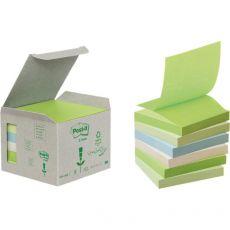 Ricariche Post-it® Z-Note Riciclate - 76x76 mm - colori pastello - R330-1GB (conf.6) - Post-It