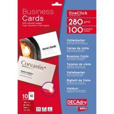 Biglietti da visita Decadry - laser/inkjet - angoli vivi - fronte/retro - 280 g - OCC3727 (conf.100) - Decadry
