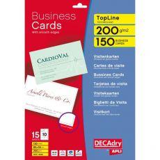 Biglietti da visita Decadry -laser/inkjet-bordo liscio-angoli vivi-fronte- 200g -T603342 (conf.150) - Decadry