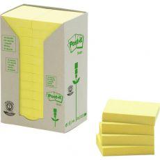 Post-it® Note in carta riciclata - giallo - 38x51 mm - 653-1T (conf.24) - Post-It
