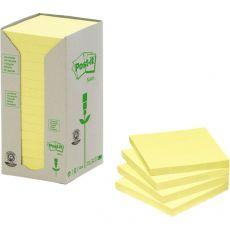 Post-it® Note in carta riciclata - giallo - 76x76 mm - 654-1T (conf.16) - Post-It