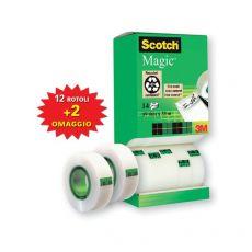 Nastro adesivo Scotch® Magic™ 810 Value Pack - 19 mm x 33 m - 8-1933R14TPR (conf.14) - Scotch