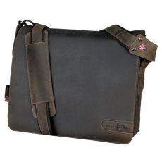Borsa a tracolla in pelle Bag Ben Juscha - 37x33x13 cm - marrone - 47138 - Juscha