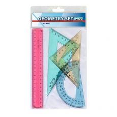 Geometry set Niji - in plastica - trasparente colorato assortito - 3591 - Niji