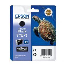 Orig. Epson C13T15714010 Cart. inkjet alta cap. ink pig. blister RS TARTARUGA- XL T1571 nero fotografico - Epson