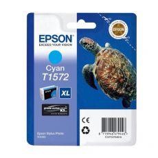 Orig. Epson C13T15724010 Cart. inkjet alta cap. ink pig. blister RS TARTARUGA-TAGLIA XL T1572 ciano - Epson