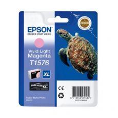Orig. Epson C13T15764010 Cart. inkjet alta cap. ink pig. blister RS TARTARUGA- XL T1576 magenta chiaro - Epson