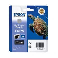 Orig. Epson C13T15794010 Cart. inkjet alta cap. ink pig. blister RS TARTARUGA- XL T1579 nero chiaro - Epson