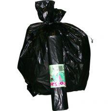 Sacchi per immondizia Cagliplast - 70x110 cm - 110 l - 48 µm - nero scatola - 20400 (conf.200) - Cagliplast