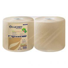 Asciugatutto Lucart - Carta ecologica naturale - 800 ff - 200m - H 25xØ 24 Ø 4,5cm - 852218 (conf.2) - Lucart