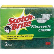 Spugna per stoviglie Scotch-Brite® - gialla/verde - 130x75x40 mm - 50499/50483 (conf.2) - Scotch-Brite