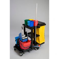 Carrello di pulizia Janitor Cart Rubbermaid - 117x55x98 cm - 75 l - 1805985 - Rubbermaid