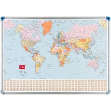 Cartina magnetica Nobo - politica - Planisfero - 87x124 cm - 32830722 - Nobo