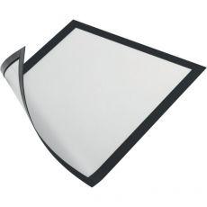Cornice magnetica Durable - A4 - 25x0,45x32,5 cm - porta avvisi - nero - 4869-01 (conf.5) - Durable
