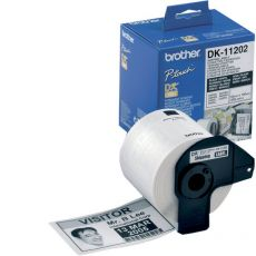 Etichette adesive in carta serie DK Brother - 17x54 mm - 400 - DK11204 - Brother