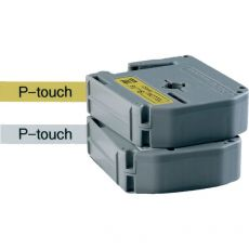 Nastri P-Touch serie M Brother - 12 mm - nero/giallo - MK631BZ - Brother
