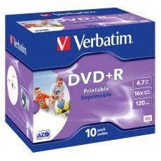 DVD Verbatim - DVD+R - 4,7 Gb - 16x - Printable - Jewel case - 43508 - Verbatim