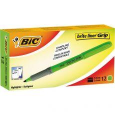 Evidenziatore a penna Grip Bic - verde - 811932 (conf.12) - Bic