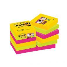 Foglietti Post-it® Super Sticky Rio De Janeiro Post-It - 47,6x47,6 mm - 622-12SSRIO-EU (conf.12) - Post-It